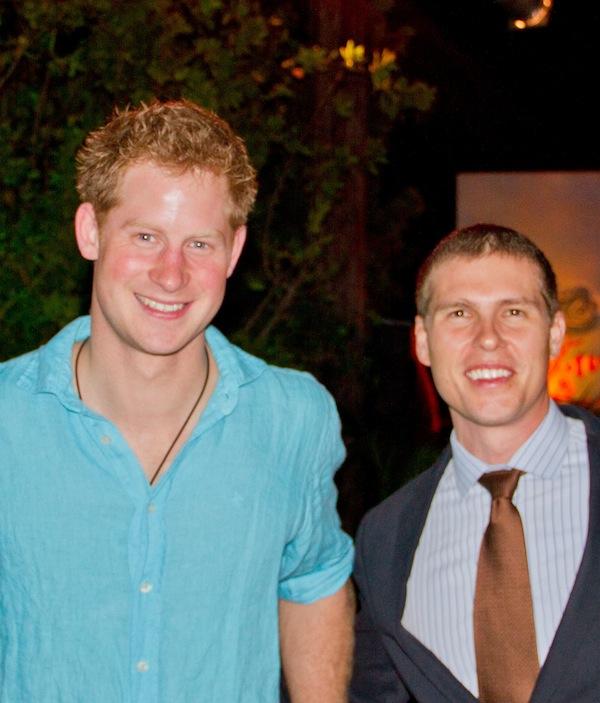 Adam Stewart and Prince Harry in Jamaica Caribbean