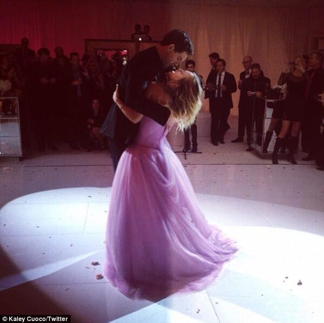kaley cuoco and ryan sweeting first dance
